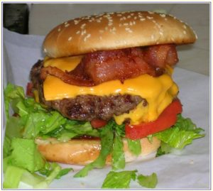 Milts Bacon Double Cheeseburger